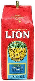 Lion Coffee TOASTED COCONUT Flavored Coffee, Light Roast, Whole Bean, 24 oz bag.