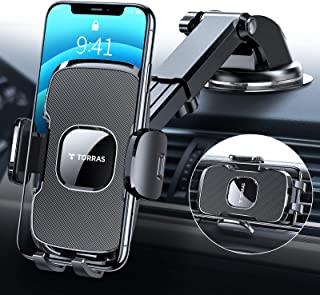 TORRAS [Ultra-Durable] Cell Phone Holder for Car, Universal Car Phone Mount Dashboard Windshield Vent Compatible with iPho...