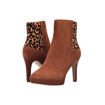 Tahari Serena (New Cognac Suede/Leopard) Women