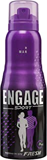 Engage Sport Fresh Deodorant Spray For Men, 150ml / 165ml