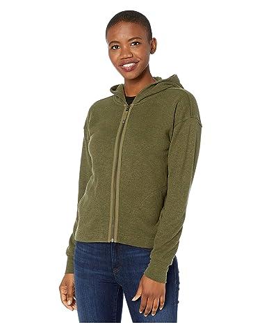 Prana Cozy Up Zip-Up Jacket (Cargo Green Heather) Women