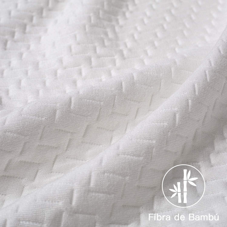 20/% de 7D Fibra de poli/éster Relleno de Almohadas de Calidad Hotelera 【Nueva Versi/ón】 BedStory Almohada 50x75 Bamb/ú Almohada Anti/ácaros 2 Pack con Funda de Lavable Almohada fibra con 80/% de 3D Fibra