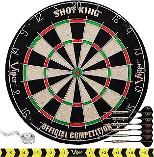 Viper by GLD Products Shot King Regulation Bristle Steel Tip Dartboard Set with..