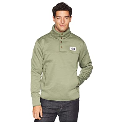 The North Face Sherpa Patrol 1/4 Snap Pullover (Four Leaf Clover Heather) Men