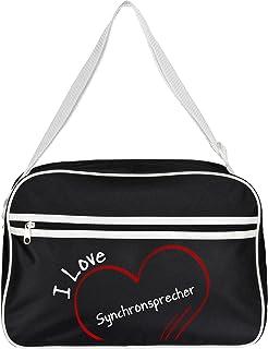 Diseño de bolso bandolera I Love de sincronización esperétener colour negro