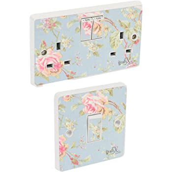 Trendy Lace Floral Light Switch Cover Socket Switch Wall Light Decoration T3