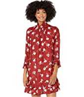 Rebecca Taylor - Long Sleeve Paintbrush Ruffle Dress