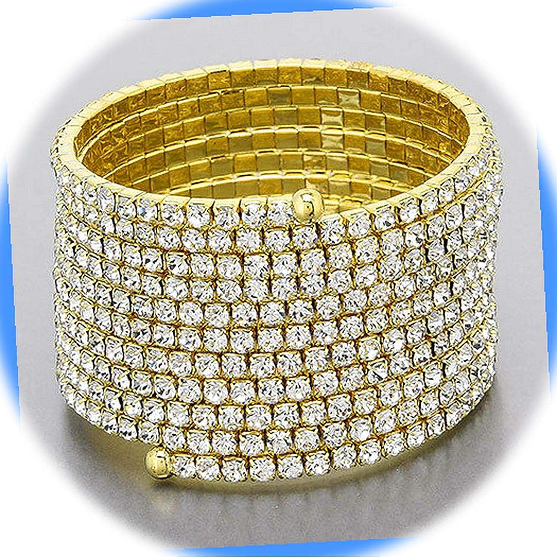 New trend rank Gold Tone Color Paved Snake Stretchable Stylis Bracelet Like Virginia Beach Mall