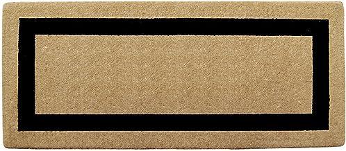 إطار صورة فردي أسود اللون شديد التحمل مقاس 60.96 سم × 144.82 سم، سادة
