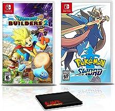 Dragon Quest Builders 2 Game Bundle with Pokemon Sword - Nintendo Switch