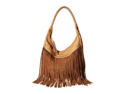 Scully Oh So Soft Leather Fringe Bag (Tan) Bags
