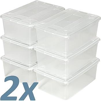 TecTake Cajas de almacenaje de Zapatos Calzado Cajas plástico ...