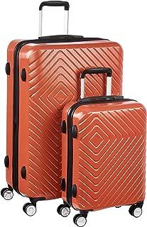 AmazonBasics Geometric Luggage - 2 Piece Set (55cm, 78cm), Orange