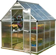 Palram HG5006 Mythos Greenhouse, 6' x 6' x 7', Silver