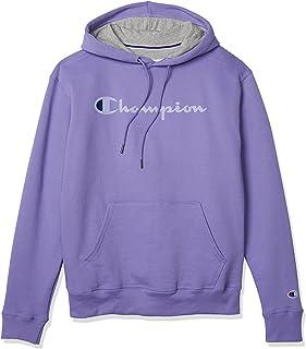 Champion Mens GF89H Powerblend Graphic Hoodie Long Sleeves Hooded Sweatshirt
