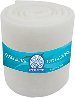 Koral Filters Aquarium Filter Pad Media Roll - Dye-Free and Blue Bonded - Cut to Fit - Durable - Fish and Reef Aquarium Compatible - Clean Water