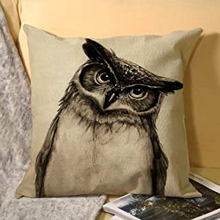 Throw Pillow Covers Linen Square 18 x 18 Inches for Sofa Couch Home Bedroom Pillowcase Printed on Both Sides Animal Fashio...
