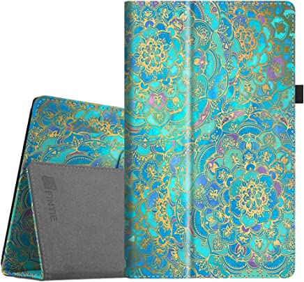 "Fintie Folio Case for All-New Amazon Fire HD 10 Tablet (7th Generation, 2017 Release) - Premium PU Leather Slim Fit Smart Stand Cover with Auto Wake/Sleep for Fire HD 10.1"" Tablet, Shades of Blue"