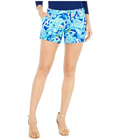 Lilly Pulitzer Callahan Knit Shorts (Corsica Blue Turtle Villa) Women