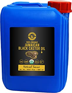 Organic Jamaican Black Castor Oil (169.07 fl oz) USDA Certified, Traditional Handmade with Typical and Traditional roasted...