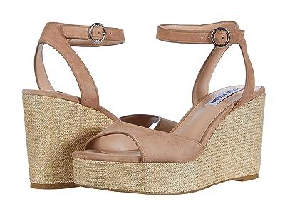 Steve Madden Binx Wedge Sandal (Camel Suede) Women