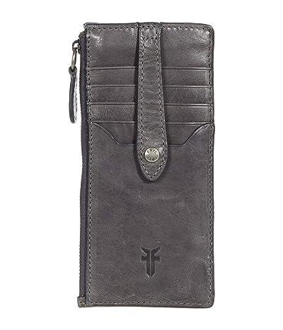 Frye Melissa Snap Card Wallet (Carbon) Handbags