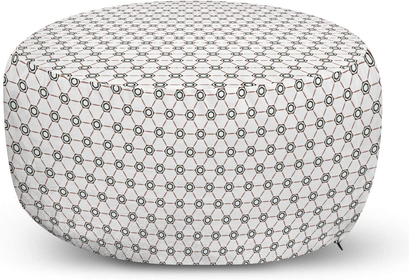 Lunarable Abstract Pouf Cover Max 86% OFF Repetitive Zipper Max 40% OFF with Intertwine