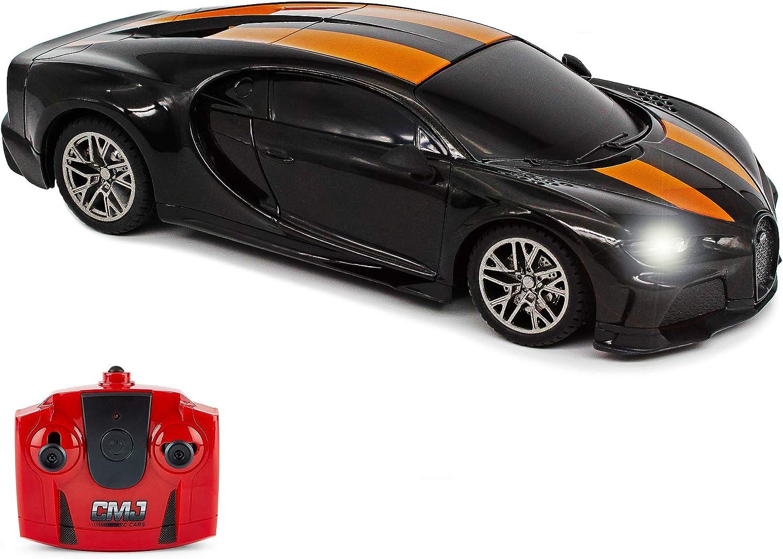 CMJ RC Cars Bugatti Chiron Supersport Max 54% OFF Car Remote Ranking TOP15 Blac Control