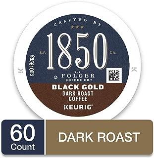 1850 Black Gold Dark Roast Coffee, 60 Count K Cups for Keurig Makers