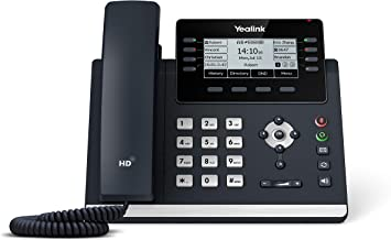$159 » Yealink T43U IP Phone, 12 VoIP Accounts. 3.7-Inch Graphical Display. Dual USB 2.0, Dual-Port Gigabit Ethernet, 802.3af PoE...