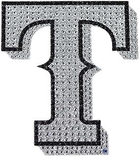 "MLB Texas Rangers Bling Emblem, 6.25"" x 6.25"", Silver"