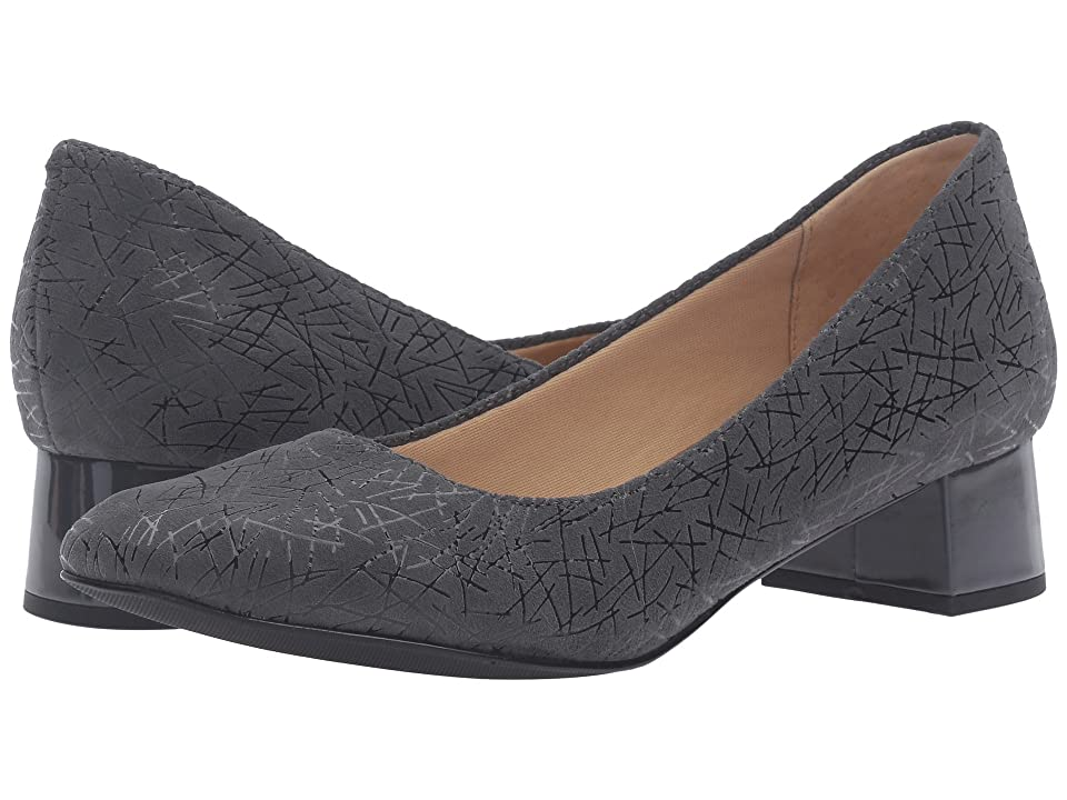 Trotters Lola (Dark Grey Graphic Embossed Leather) Women