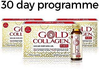 GOLD COLLAGEN FORTE 30-DAY: BEAUTY, ANTI-AGING & SKINCARE SUPPLEMENT 500ml,(10 bottlesx50ml)pack of 3