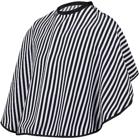 TRIXES Mantella regolabile a strisce bianche e nere per parrucchieri e barbieri.