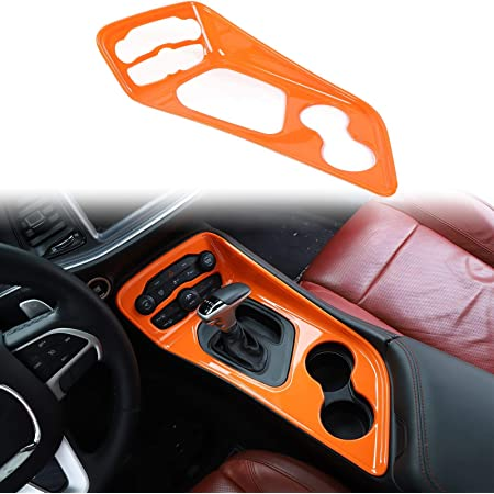 for 2010-2020 Dodge Charger ABS Orange 1pc Voodonala for Challenger Charger Headlight Switches Trim for 2015-2020 Dodge Challenger