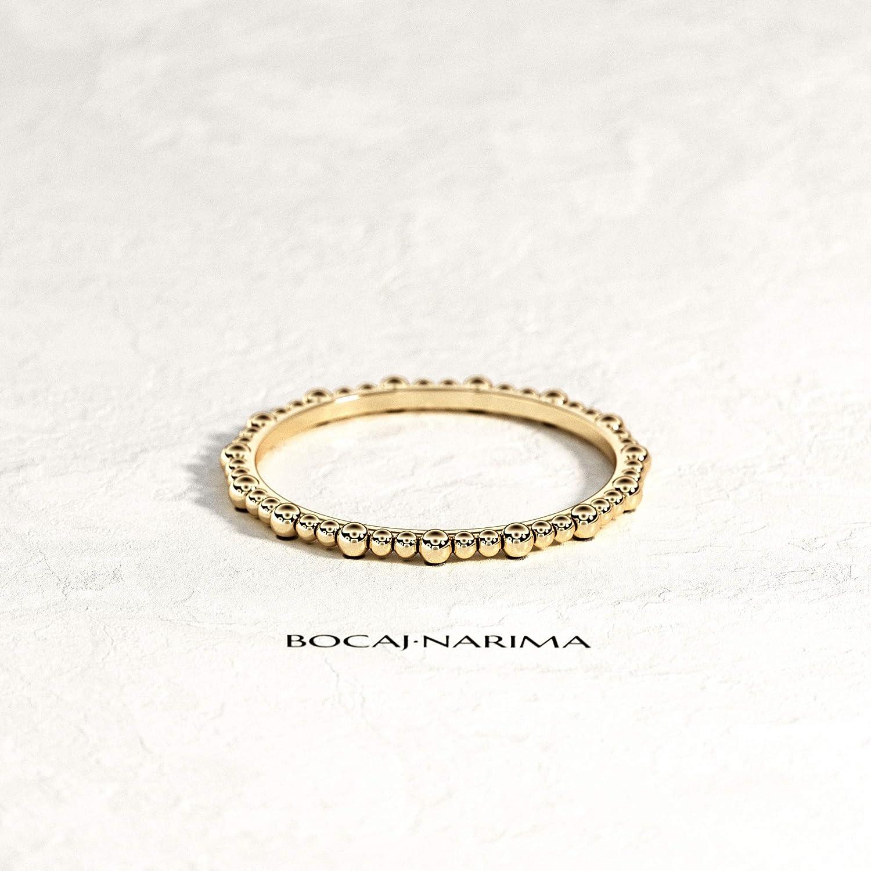 14k 18k Solid Bead Overseas National uniform free shipping parallel import regular item Ring Gold