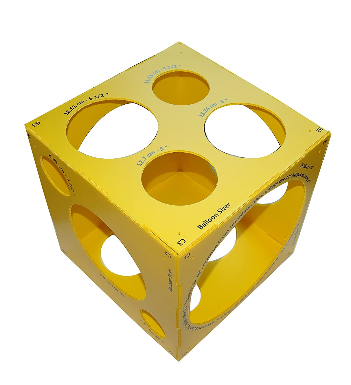 13 Holes Collapsible Plastic Cube Balloon Sizer Box From 3