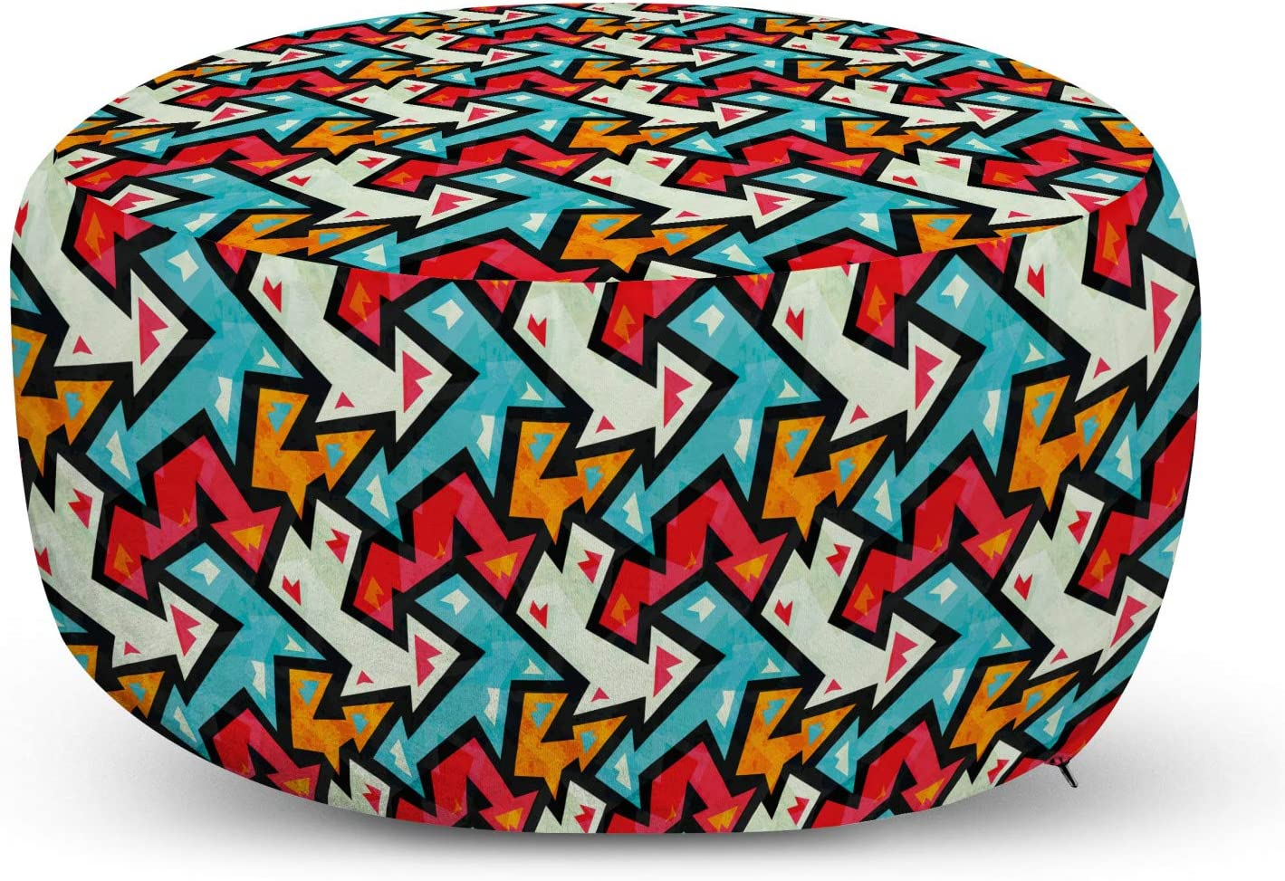 Ambesonne Abstract Pouf Cover with Max 50% OFF Zipper Pattern All items free shipping Arrow Graphic