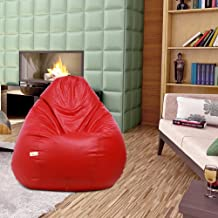 Sattva Classic XXXL Bean Bag Cover Without Beans (Red)