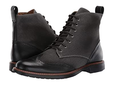 Massimo Matteo Wing Tip Boot Mixed Material (Chumbo/Black) Men