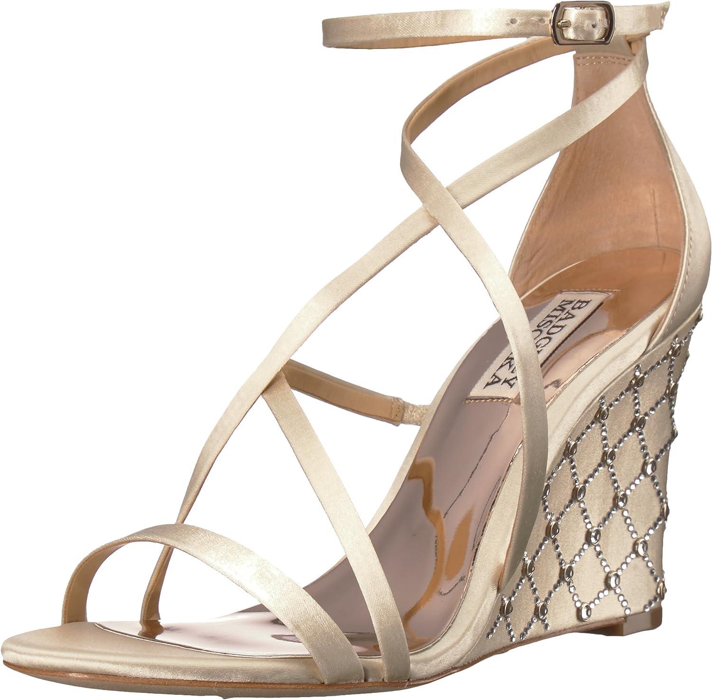 Badgley Mischka Womens Shelly Wedge Sandal