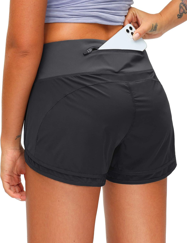 Very popular Women's Running Over item handling ☆ Shorts with Zipper Quick-Dry Inch Worko Pocket 3