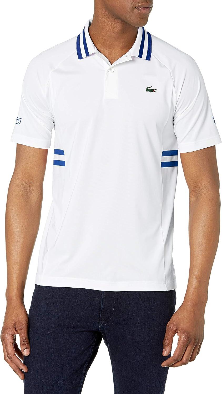 Lacoste Men's Sport Novak Djokovic Semi Fancy Technical Jersey Polo Shirt