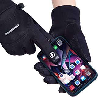 Winter Gloves Touchscreen Windproof Thermal Anti-Slip Cold Weather Bike Cycling Riding Driving Warm Gloves for Men Women