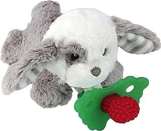 RaZbaby RaZbuddy RaZberry Teether/Pacifier Holder w/Removable Baby Teether Toy - 0M+ - Bpa Free - Puppy