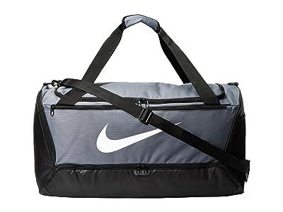 Nike Brasilia Large Duffel 9.0 (Flint Grey/Black/White) Bags