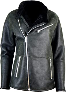 Womens Sheepskin jacket, Lambskin jacket / ramones / Leather KKKD-0001