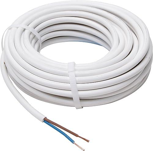 Kopp 151510843 Tuyau conducteur H03 VV-F Blanc 2 x 0,75 mm² x 10 m