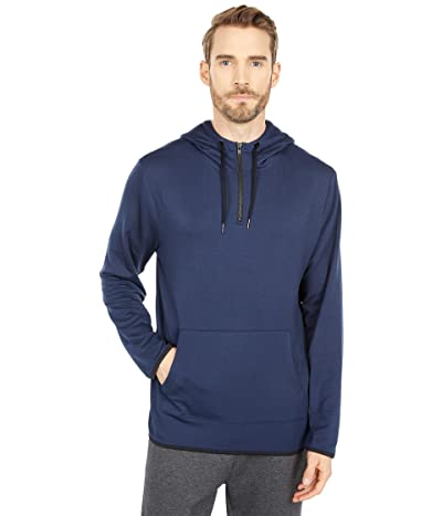 Threads 4 Thought Feather Fleece 1/4 Zip Hoodie (Raw Denim) Men