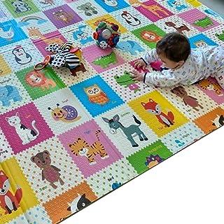 Mumfactory play mat | floor mat | baby play mat | playmat | 200*180*1.5 CM | Extra Thickness (Garden/Animals)